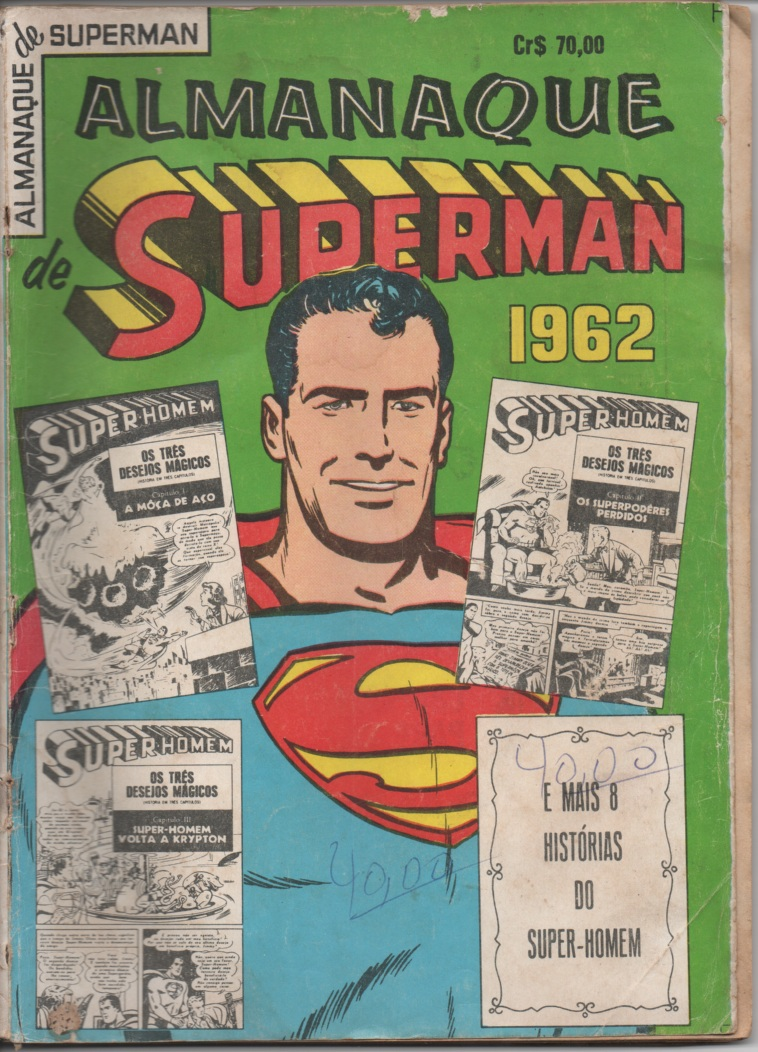 ALMANAQUE DO SUPERMAN DE 1962 - EBAL