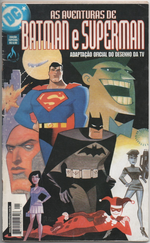 AS AVENTURAS DE BATMAN E SUPERMAN - EDITORA MYTHOS