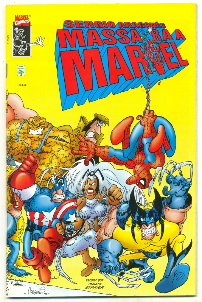 SERGIO ARAGONÉS MASSACRA A MARVEL - ED. ABRIL