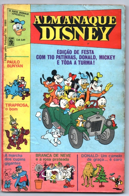 ALMANAQUE DISNEY nº001 - EDITORA ABRIL