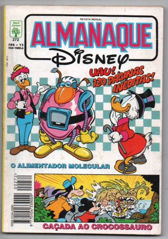 ALMANAQUE DISNEY nº272 - EDITORA ABRIL