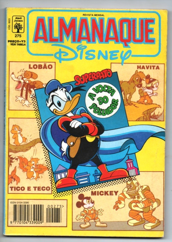 ALMANAQUE DISNEY nº275 - EDITORA ABRIL