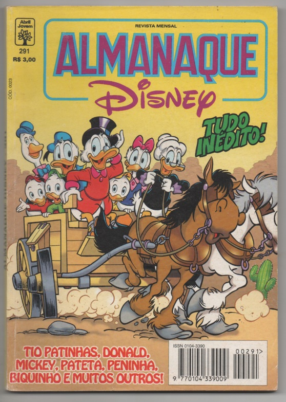 ALMANAQUE DISNEY nº291 - EDITORA ABRIL