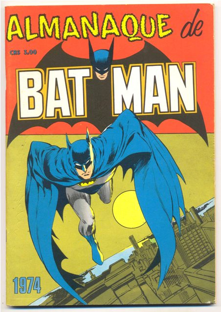 ALMANAQUE DO BATMAN DE 1974 - EBAL