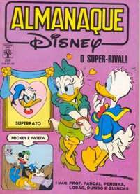 ALMANAQUE DISNEY nº208 - EDITORA ABRIL