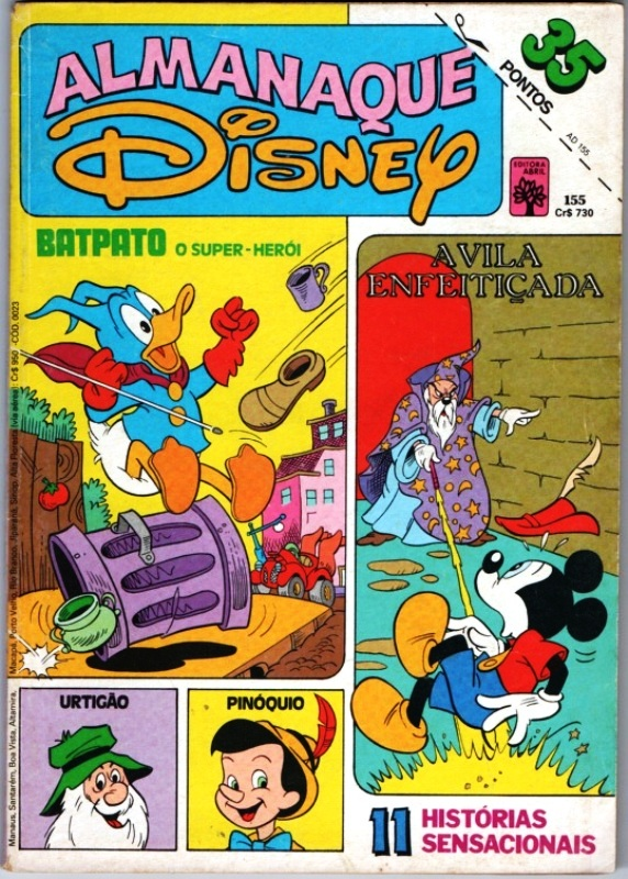 ALMANAQUE DISNEY nº155 - EDITORA ABRIL