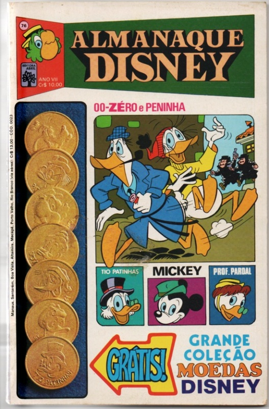 ALMANAQUE DISNEY nº076 - EDITORA ABRIL