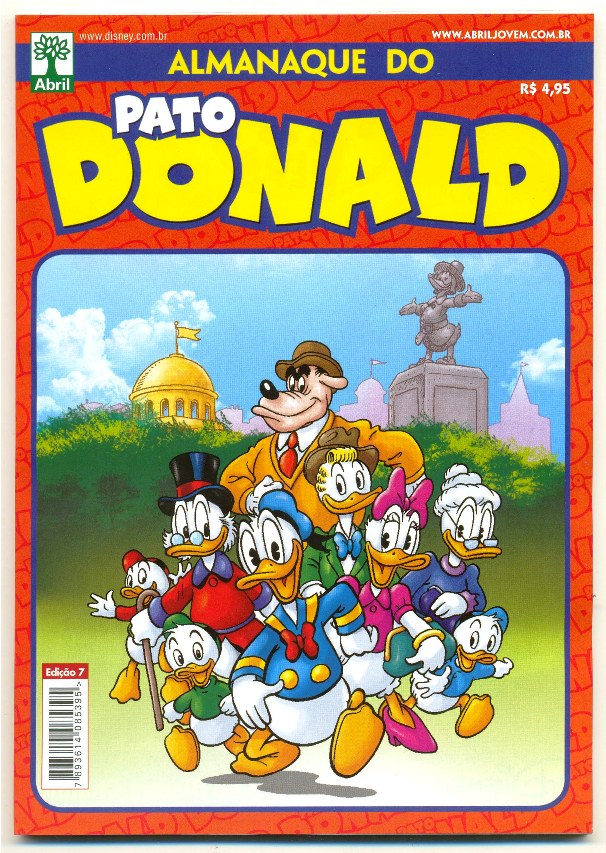 ALMANAQUE DO PATO DONALD - 2ª SÉRIE  nº07 - ED. ABRIL