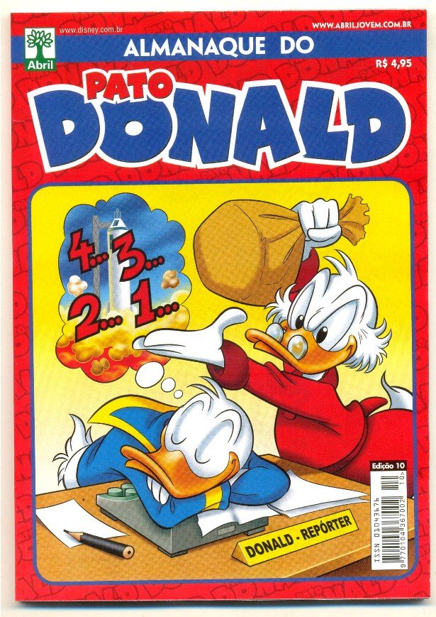 ALMANAQUE DO PATO DONALD - 2ª SÉRIE  nº10 - ED. ABRIL