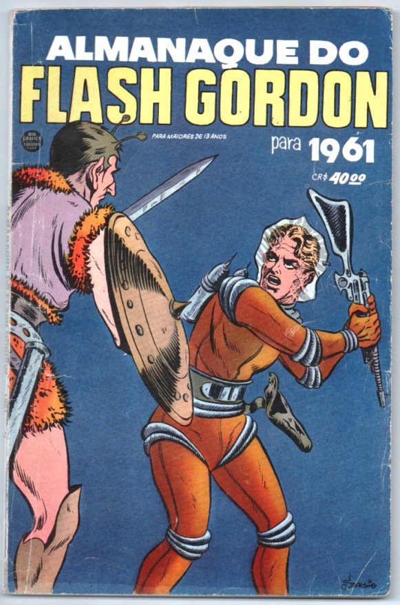 ALMANAQUE DO FLASH GORDON DE 1961 - EDITORA RGE
