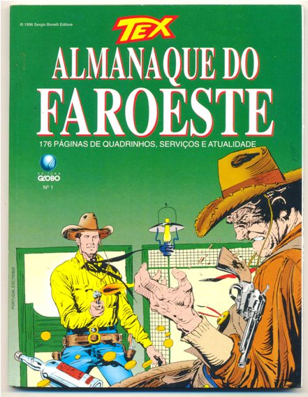 TEX ALMANAQUE DO FAROESTE nº01 - ED. GLOBO
