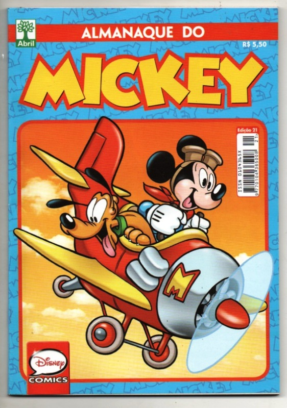 ALMANAQUE DO MICKEY - 2ª SÉRIE nº21 - EDITORA ABRIL