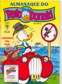 ALMANAQUE DO PATO DONALD - 1ª SÉRIE  nº17 - ED. ABRIL