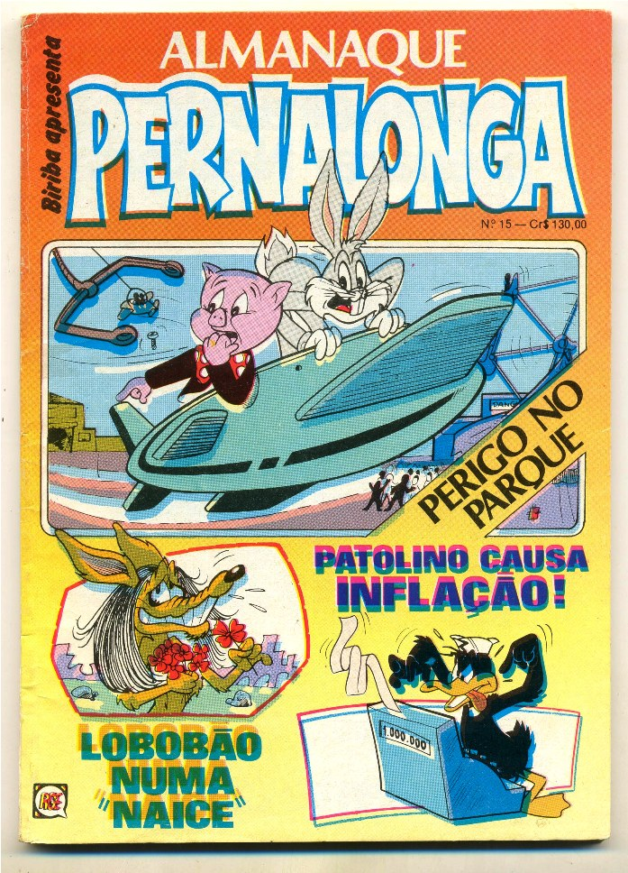 ALMANAQUE DO PERNALONGA nº15 - EDITORA RGE