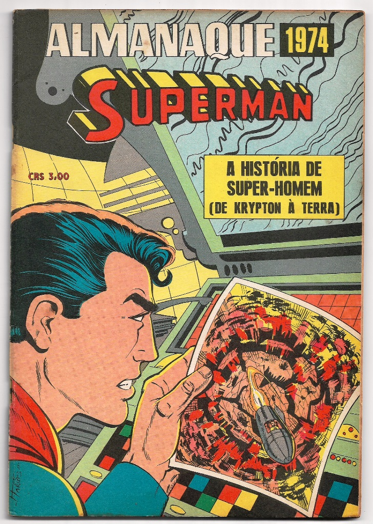 ALMANAQUE DO SUPERMAN DE 1974 - EBAL