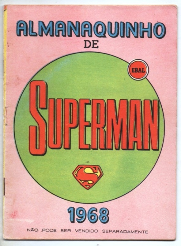 ALMANAQUINHO DO SUPERMAN DE 1968 - EDITORA EBAL
