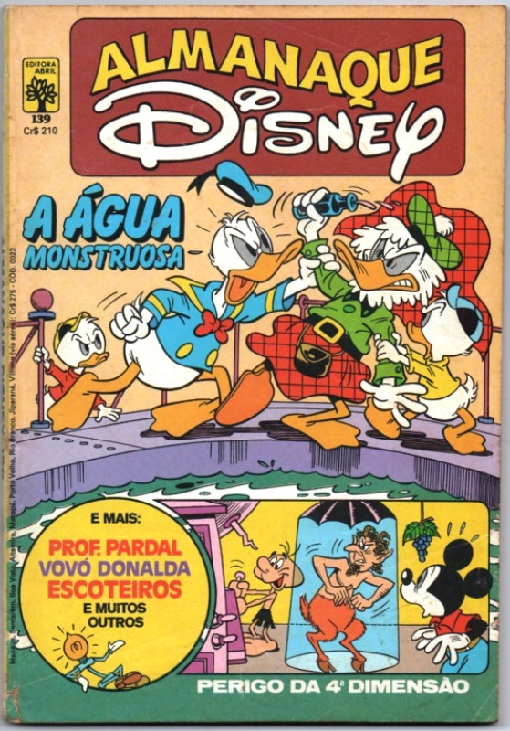 ALMANAQUE DISNEY nº139 - EDITORA ABRIL