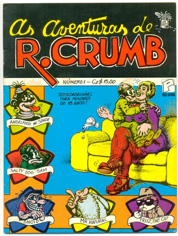 AS AVENTURAS DE ROBERT CRUMB nº 01- EDITORA PRESS