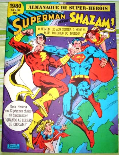SUPERMAN vs SHAZAM! - EBAL - 1980 - GIGANTE