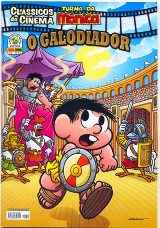 CLÁSSICOS DO CINEMA n°21 - O GALODIADOR - PANINI