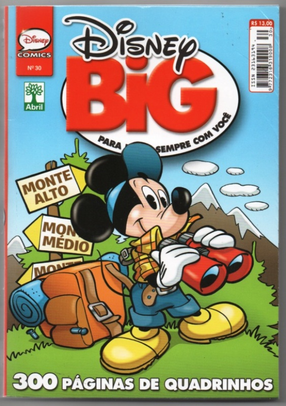 DISNEY BIG nº30 - EDITORA ABRIL