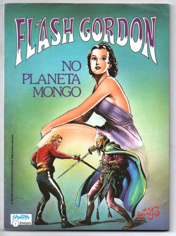 FLASH GORDON NO PLANETA MONGO nº01 - EDITORA SAMPA
