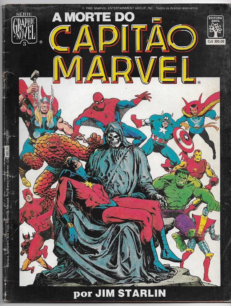 GRAPHIC NOVEL nº03 - A MORTE DO CAPITÃO MARVEL - ED. ABRIL