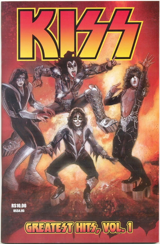 KISS GREATEST HITS - EDITORA NFL COMICS