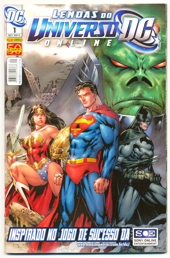 LENDAS DO UNIVERSO DC ON LINE nº01 - ED. PANINI