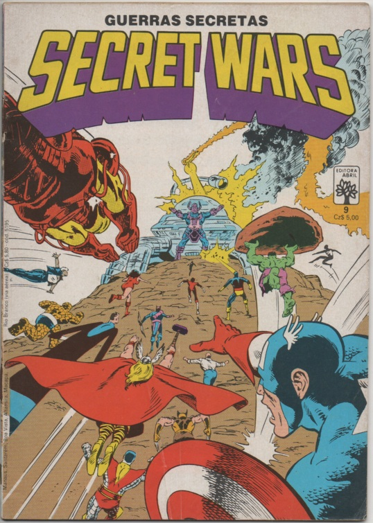 SECRET WARS nº09 - EDITORA ABRIL