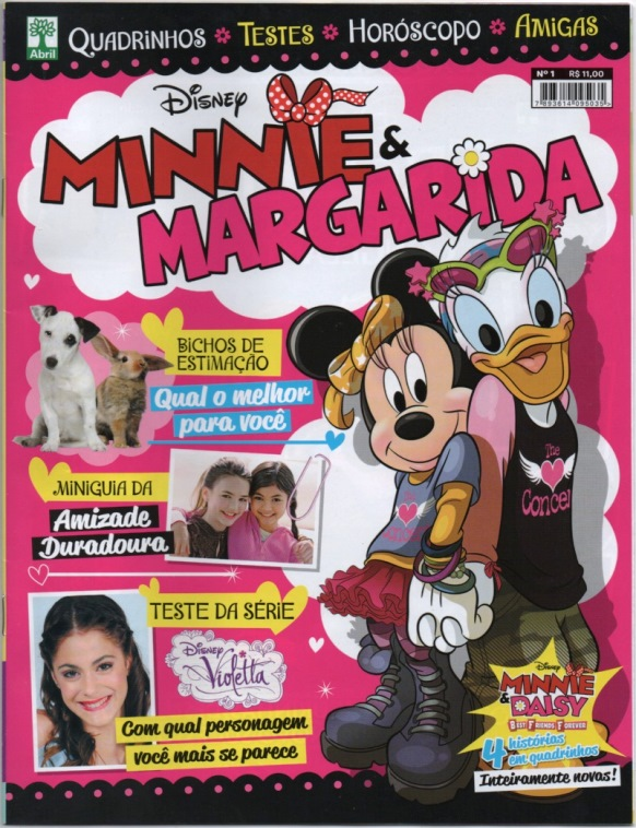 MINNIE & MARGARIDA nº01 - EDITORA ABRIL