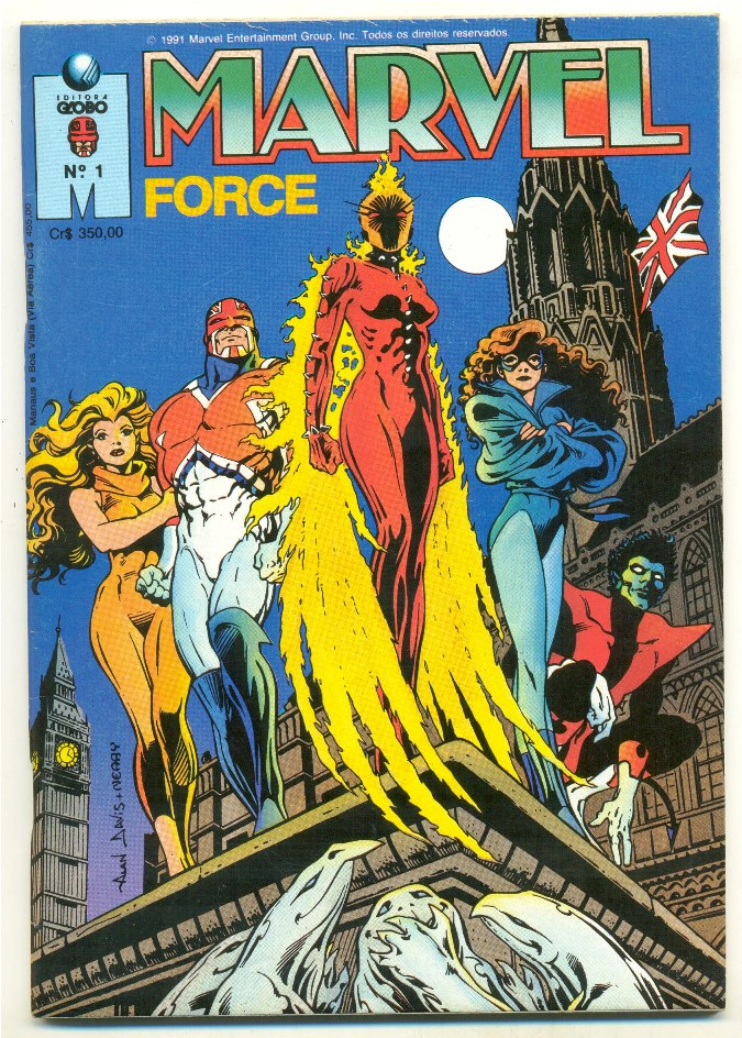 MARVEL FORCE nº01 - ED. GLOBO