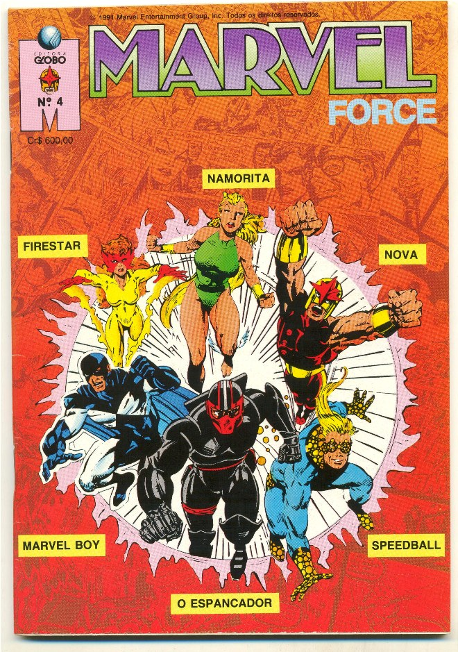 MARVEL FORCE nº04 - ED. GLOBO