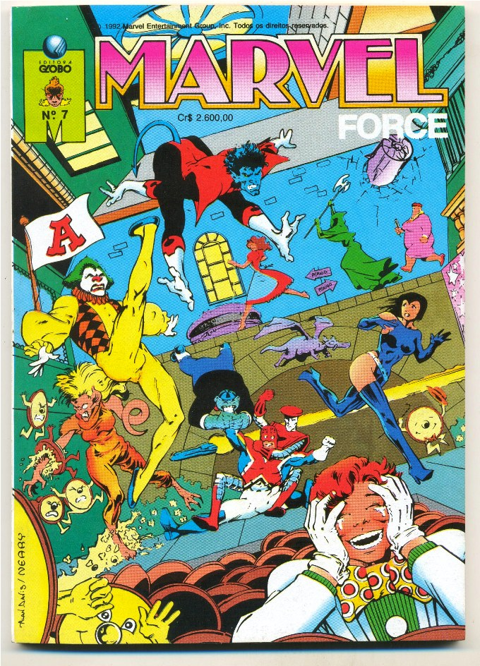 MARVEL FORCE nº07 - ED. GLOBO