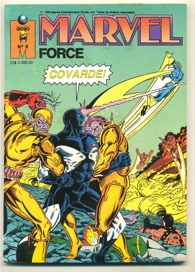 MARVEL FORCE nº08 - ED. GLOBO