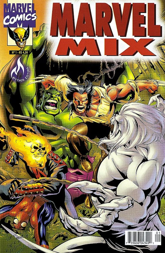 MARVEL MIX n°01 - EDITORA MYTHOS