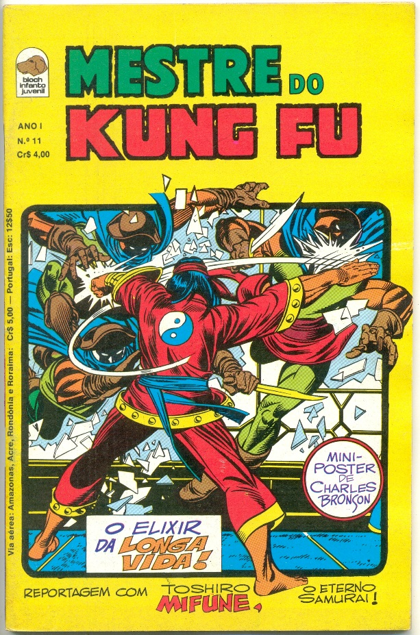 MESTRE DO KUNG FU nº11 - ED. BLOCH