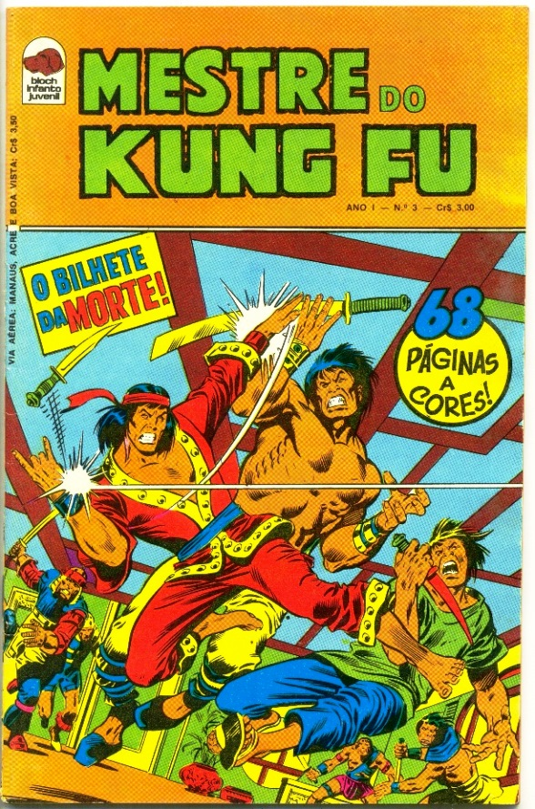 MESTRE DO KUNG FU nº03 - ED. BLOCH