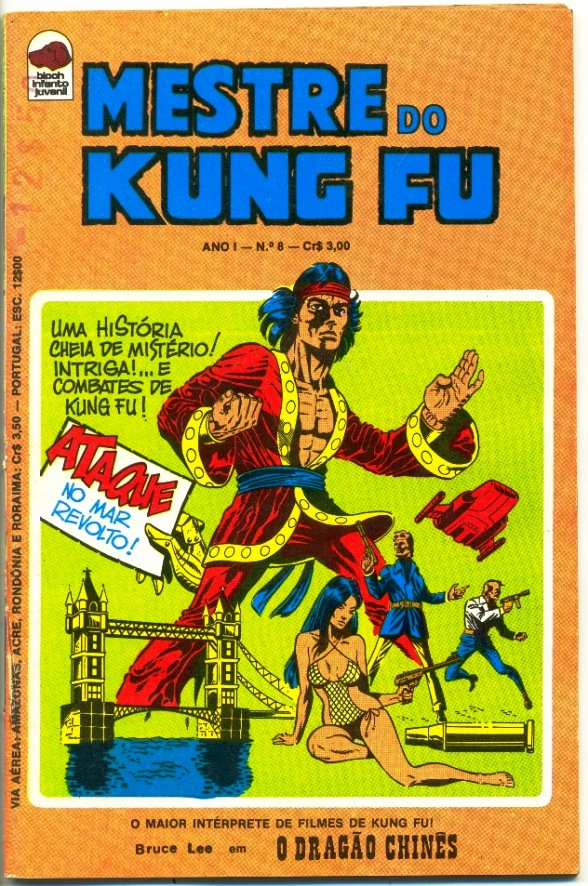 MESTRE DO KUNG FU nº08 - ED. BLOCH