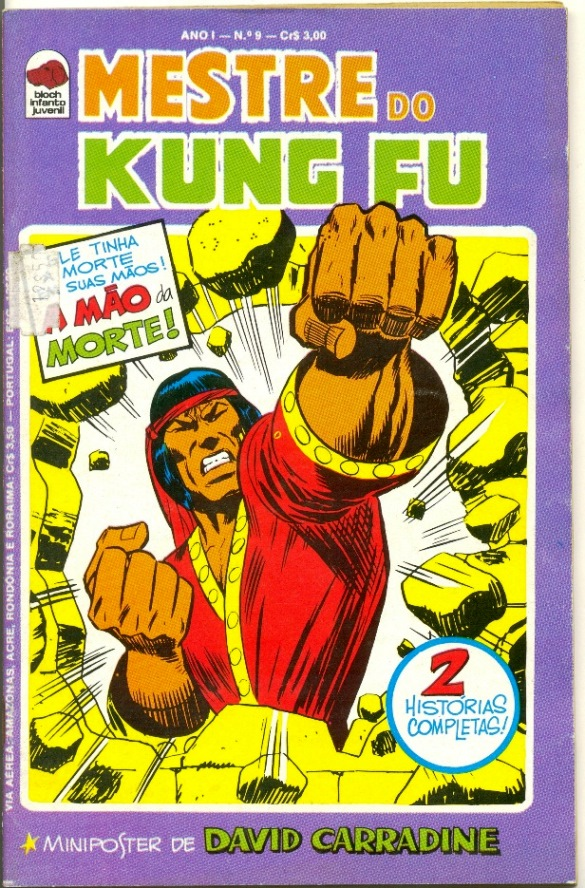 MESTRE DO KUNG FU nº09 - ED. BLOCH