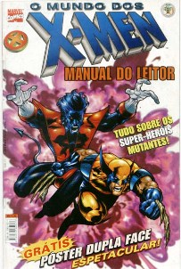 O MUNDO DOS X-MEN - MANUAL DO LEITOR - ED. ABRIL