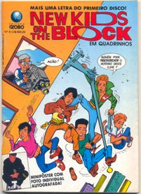 NEW KIDS ON THE BLOCK nº08 - EDITORA GLOBO