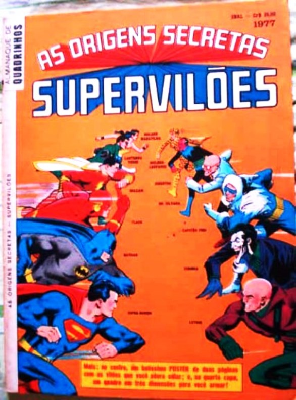 AS ORIGENS SECRETAS SUPERVILÕES - EBAL - 1977 - GIGANTE