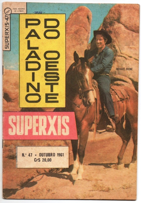 SUPERXIS 4ª SÉRIE n°47 - PALADINO DO OESTE - OUT/61 - EBAL