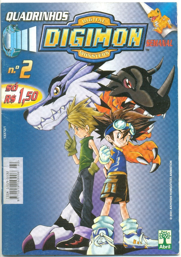 QUADRINHOS DIGIMON DIGITAL MONSTERS - ED. ABRIL - Nº02