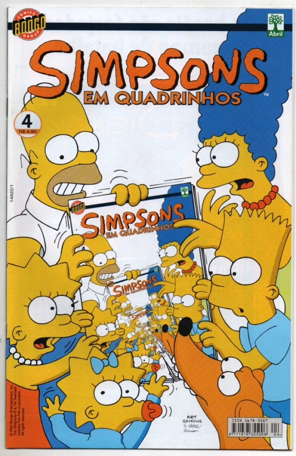 OS SIMPSONS nº04 - EDITORA ABRIL