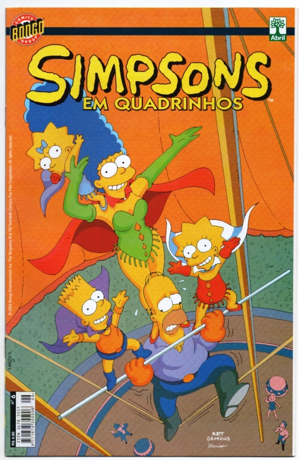 OS SIMPSONS nº06 - EDITORA ABRIL