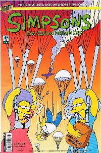 OS SIMPSONS nº015 - EDITORA ABRIL