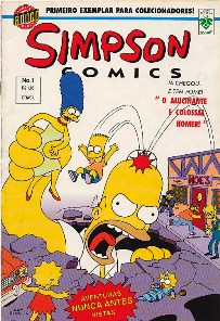 OS SIMPSONS nº001 - EDITORA GRUPO EDITORIAL - 1996