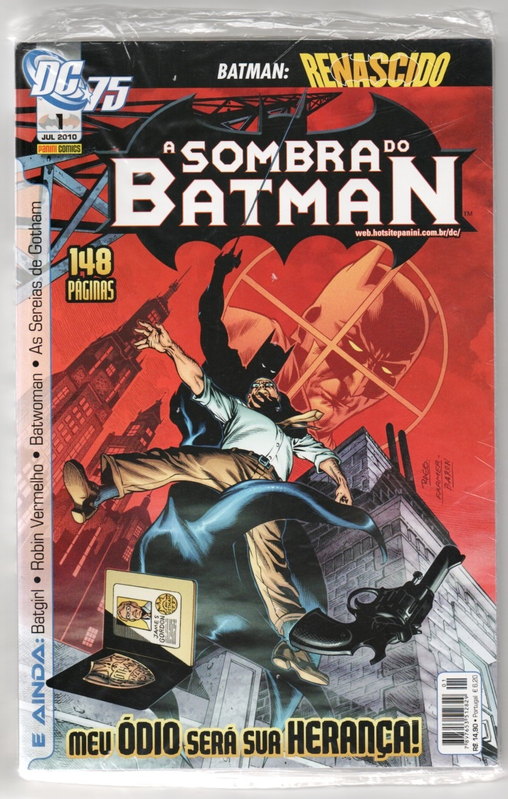 A SOMBRA DO BATMAN nº01 - EDITORA PANINI